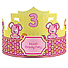 Girl Puppy Dog - Personalized Birthday Party Hats - 8 ct
