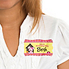 Girl Puppy Dog - Personalized Birthday Party Name Tag Stickers - 8 ct
