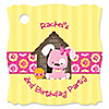 Girl Puppy Dog - Personalized Birthday Party Tags - 20 ct