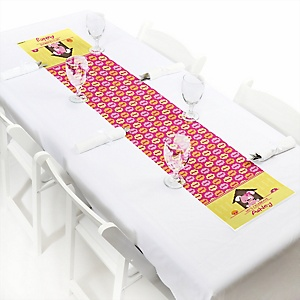 Girl Puppy Dog - Personalized Party Petite Table Runner
