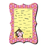 Girl Puppy Dog - Unique Alternative Guest Book - Baby Shower or Birthday Party Signature Mat