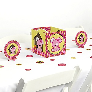 Girl Puppy Dog - Baby Shower or Birthday Party Centerpiece and Table Decoration Kit