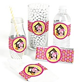 Girl Puppy Dog - DIY Party Wrappers - 15 ct
