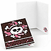 Skullicious™ - Baby Girl Skull - Baby Shower Thank You Cards - 8 ct