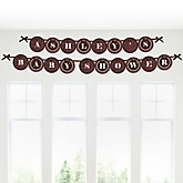 Skullicious™ - Baby Girl Skull - Personalized Baby Shower Garland Letter Banners