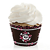 Skullicious™ - Girl Skull - Birthday Party Cupcake Wrappers & Decorations