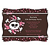 Skullicious™ - Girl Skull - Personalized Birthday Party Invitations