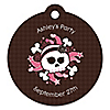 Skullicious™ - Girl Skull - Round Personalized Party Tags - 20 ct