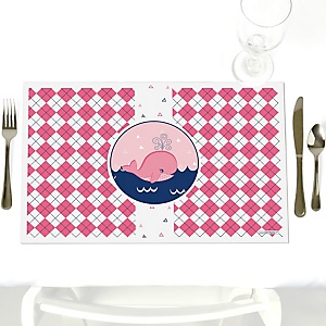 Tale Of A Girl Whale - Party Table Decorations - Party Placemats - Set of 12