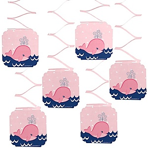 Tale Of A Girl Whale - Party Hanging Decorations - 6 ct