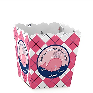 Tale Of A Girl Whale - Party Mini Favor Boxes - Personalized Party Treat Candy Boxes - Set of 12