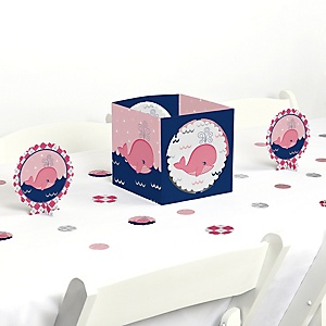 Tale Of A Girl Whale - Baby Shower or Birthday Party Centerpiece and Table Decoration Kit
