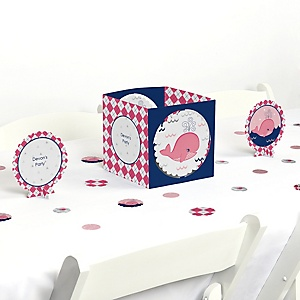 Tale Of A Girl Whale - Party Centerpiece & Table Decoration Kit