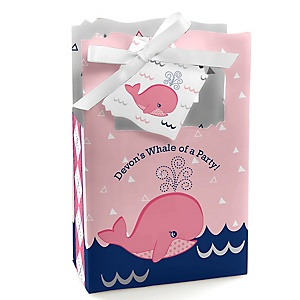 Tale Of A Girl Whale - Personalized Party Favor Boxes - Set of 12