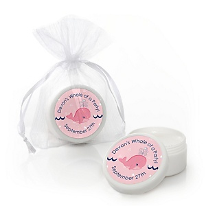 Tale Of A Girl Whale - Personalized Party Lip Balm Favors - Set of 12