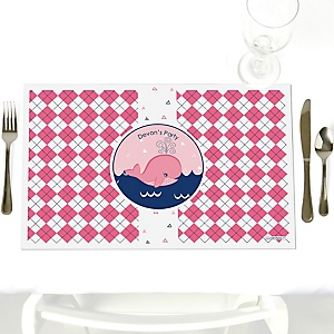 Tale Of A Girl Whale - Personalized Party Placemats