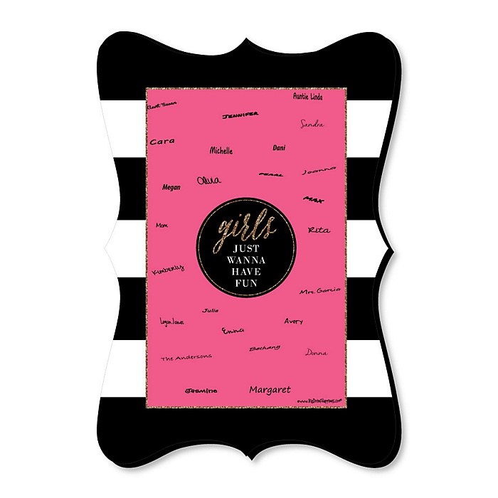 Girls Night Out - Bachelorette Party Unique Alternative Guest Book - Girls Night Out Signature Mat