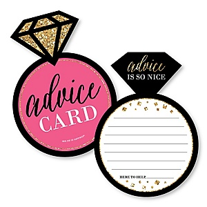 Girls Night Out - Ring Wish Card Bridal Shower or Bachelorette Party Activities - Shaped Advice Cards Game - Set of 20