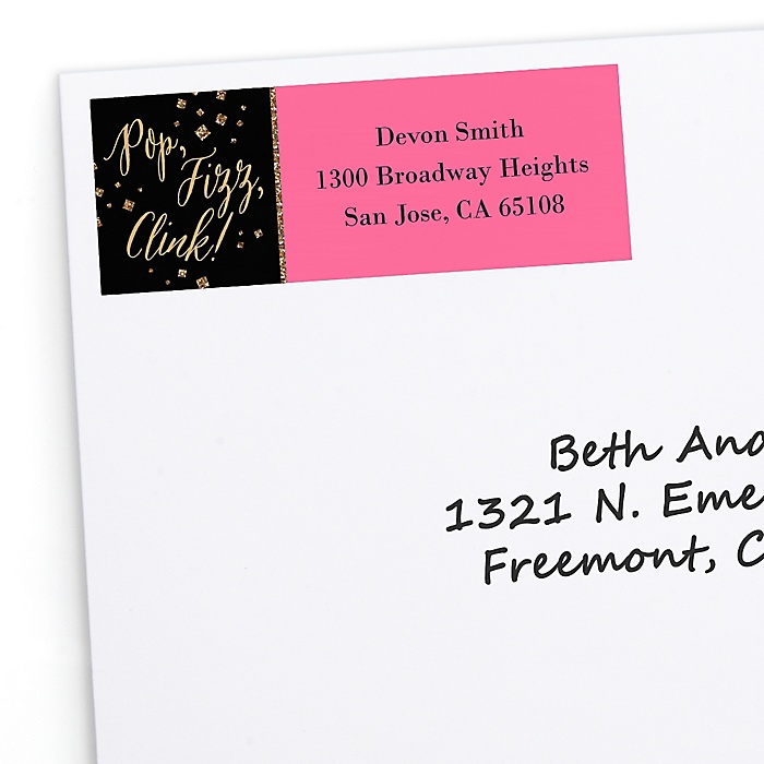 Girls Night Out - Personalized Bachelorette Party Return Address Labels - 30 ct