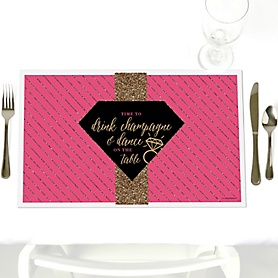 Girls Night Out - Party Table Decorations - Bachelorette Party Placemats - Set of 12