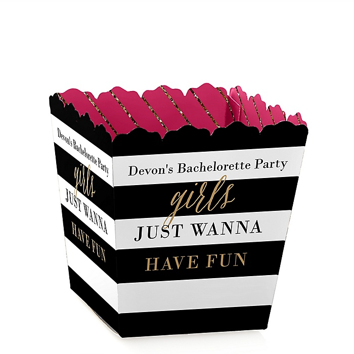 Girls Night Out - Party Mini Favor Boxes - Personalized Bachelorette Party Treat Candy Boxes - Set of 12