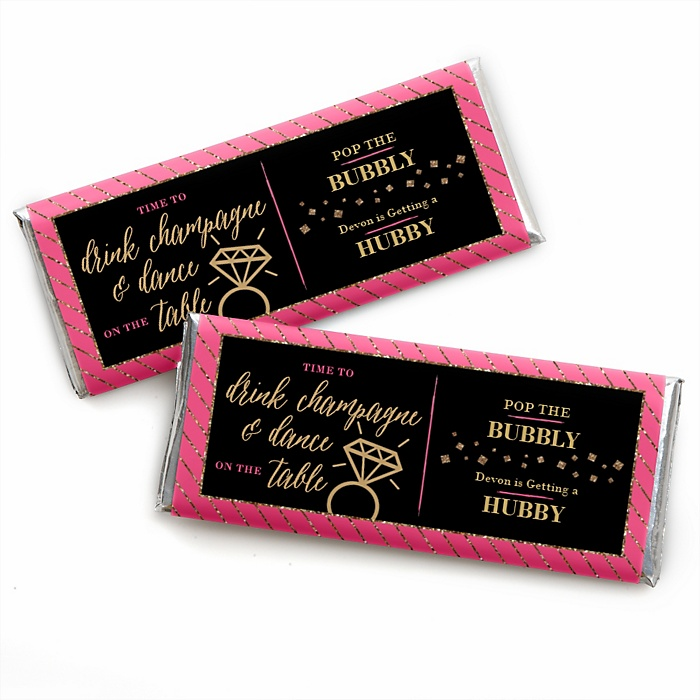 Girls Night Out - Personalized Candy Bar Wrappers Bachelorette Party Favors - Set of 24