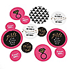 Girls Night Out - Personalized Bachelorette Party Giant Circle Confetti - Bridal Shower Decorations - Large Confetti 27 Count