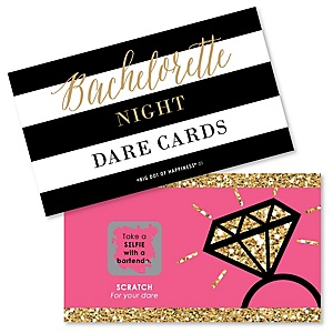Girls Night Out - Bachelorette Party Game Scratch Off Dare Cards - 22 ct