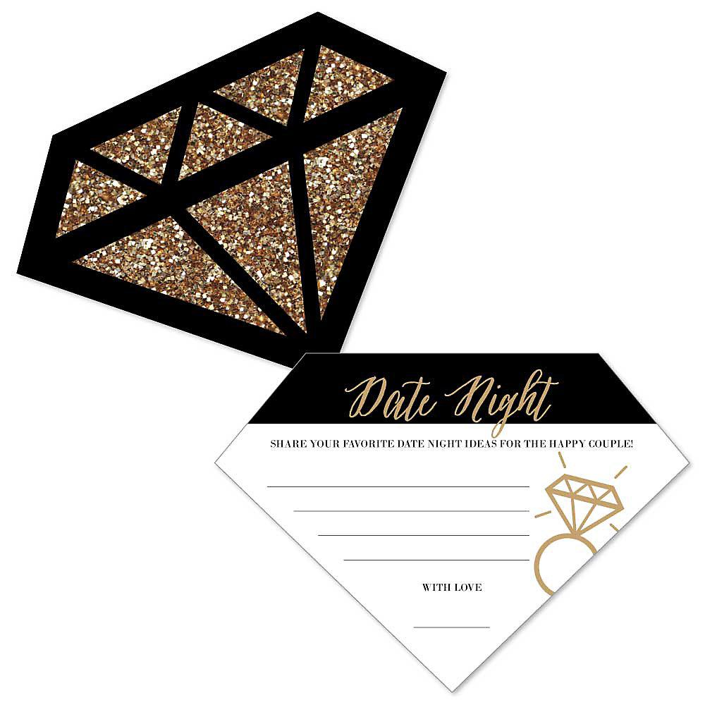 Date Night Idea Cards – Bachelorette or Bridal Shower Activity - Set ...