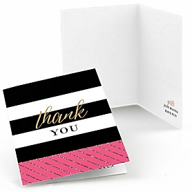 Girls Night Out - Bachelorette Party Thank You Cards - 8 ct