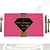 Girls Night Out - Party Table Decorations - Personalized Bachelorette Party Placemats - Set of 12