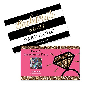Girls Night Out - Personalized Bachelorette Party Game Scratch Off Dare Cards - 22 ct