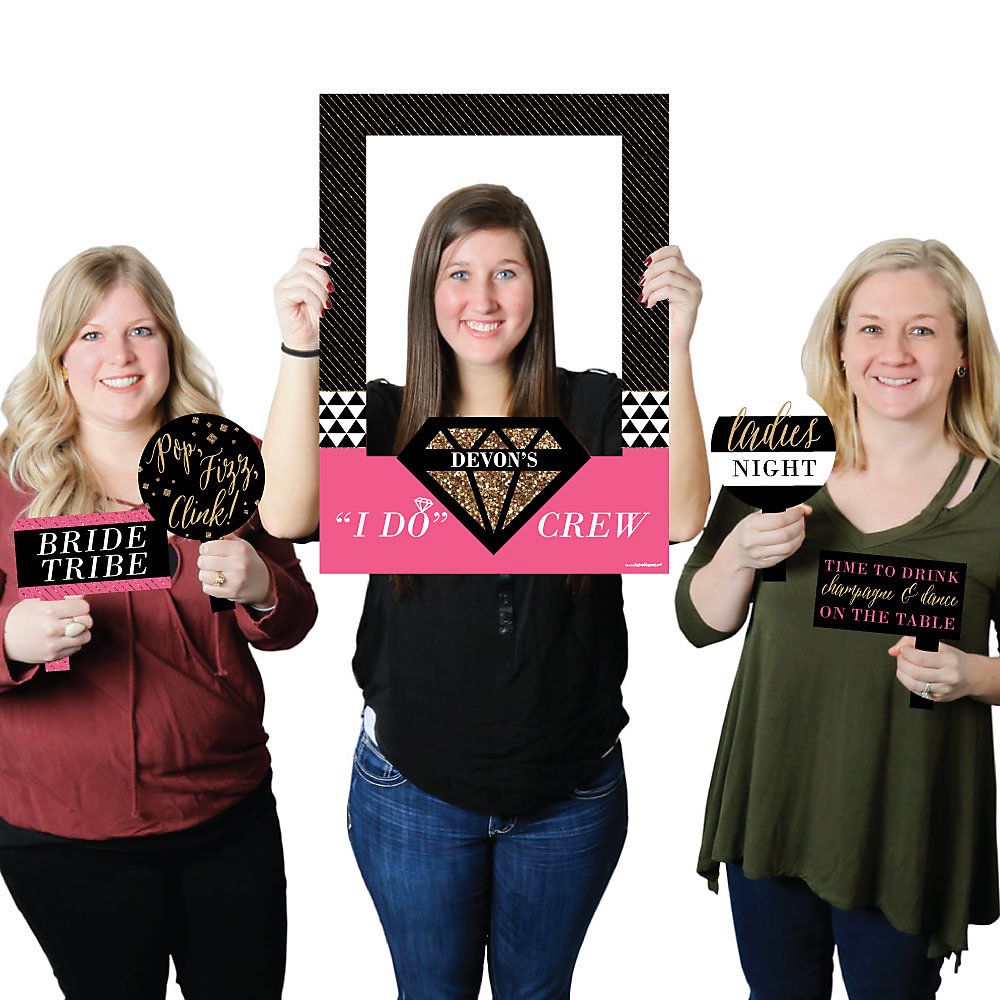 Girls Night Out - Personalized Bachelorette Selfie Photo Booth ...