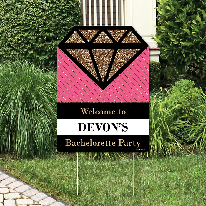 Girls Night Out - Party Decorations - Bachelorette Party Personalized Welcome Yard Sign