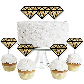 Girls Night Out - Dessert Cupcake Toppers - Bachelorette Party Clear Treat Picks - Set of 24