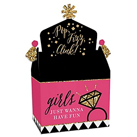 Girls Night Out - Treat Box Party Favors - Bachelorette Party Goodie Gable Boxes - Set of 12