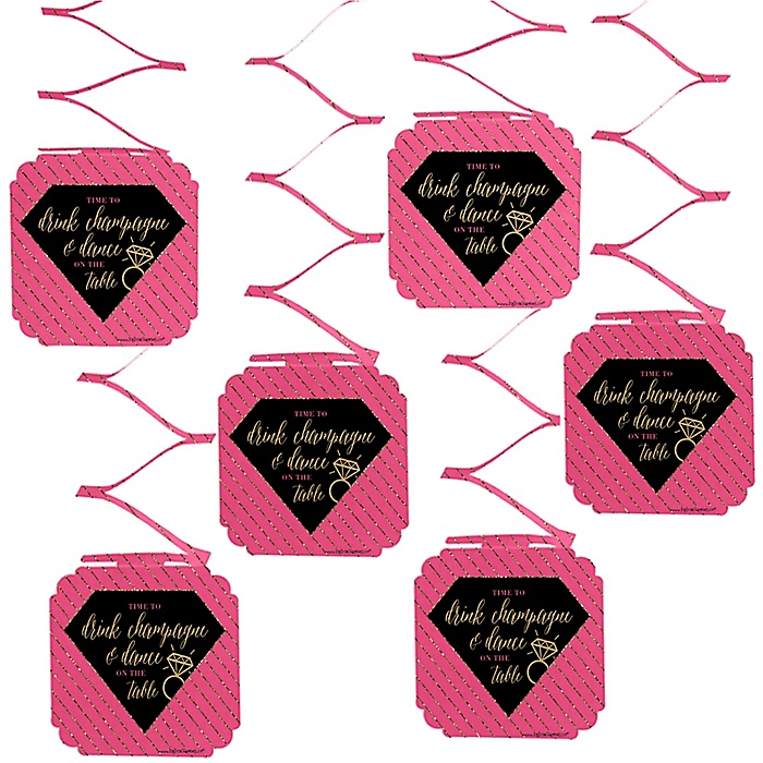 Girls Night Out - Bachelorette Party Hanging Decorations - 6 ct