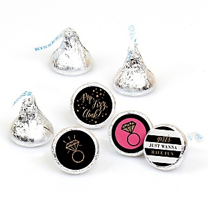 Girls Night Out - Round Candy Labels Bachelorette Party Favors - Fits Hershey's Kisses - 108 ct