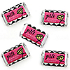 Girls Night Out - Mini Candy Bar Wrapper Stickers - Bachelorette Party Small Favors - 40 Count