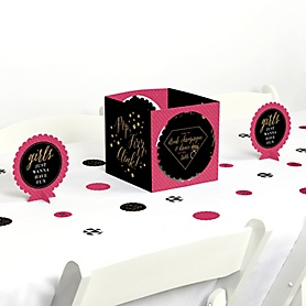 Girls Night Out - Bachelorette Party Centerpiece and Table Decoration Kit