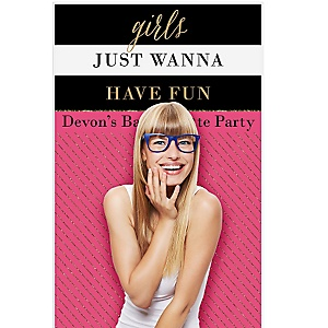 """Girls Night Out - Bachelorette Party Personalized Photo Booth Backdrops - 36"""" x 60"""""""