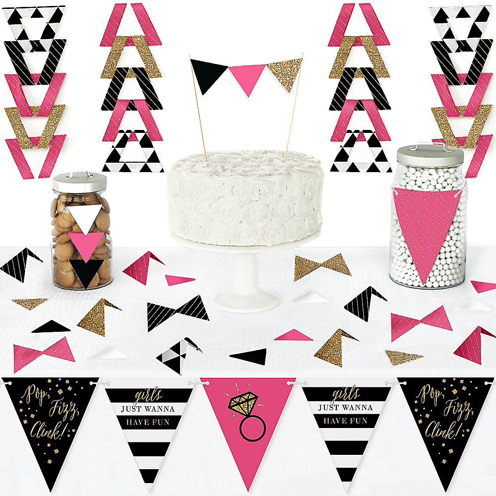 Girls Night Out Diy Pennant Banner Decorations Bachelorette Party Triangle Kit 99 Pieces