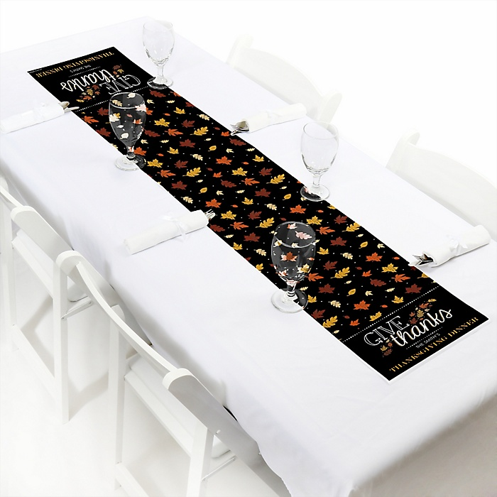 Give Thanks - Personalized Party Petite Table Runner