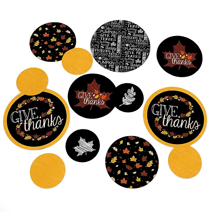 Give Thanks - Thanksgiving Party Table Confetti - 27 ct