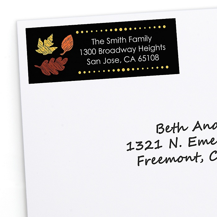 Give Thanks - Personalized Baby Shower Return Address Labels - 30 Count