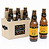 Give Thanks - 6 Personalized Beer Bottle Label Stickers and 1 Carrier - Thanksgiving Gift