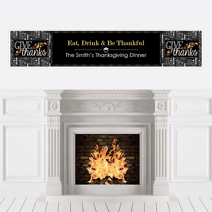 Give Thanks - Personalized Thanksgiving Party Banners