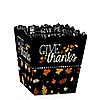 Give Thanks - Thanksgiving Party Treat Candy Boxes - Set of 12