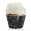 Give Thanks - Thanksgiving Party Decorations - Party Cupcake Wrappers - Set of 12