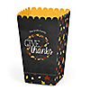 Give Thanks - Personalized Thanksgiving Popcorn Favor Treat Boxes - Set of 12